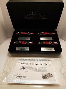 Kevin Harvick -Action 4 Car Set - Platinum, gold, Brushed metal, chrome - Looney