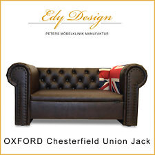 Hundesofa Dog Bed OXFORD Chesterfield Union Jack XXL Vintage Design HANDMADE NEU