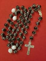 VINTAGE Christian CATHOLIC ROSARY made in ITALY 24 inches