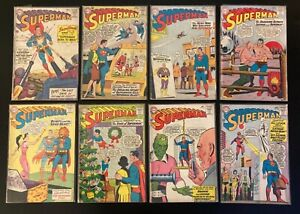 Vintage Superman DC Silver Age Comic Book Lot - 8 Issues
