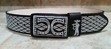 "WESTERN Men's Belt SIZE 36 Made in Mexico, cinto charro 2"" width hilo plateado"