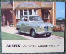 AUSTIN A30 SEVEN 4 DOOR SALOON CAR SALES BROCHURE CIRCA 1954 REF- 850/B