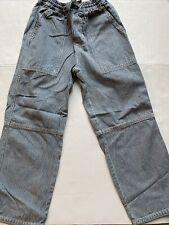 Euc Pre-Owned Boys Mini Boden Striped Blue Denim Pants Sz-7/8Y