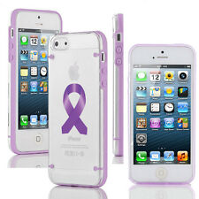 For iPhone Slim Clear TPU Hard Case Alzheimers - Pancreatic - Testicular Cancer