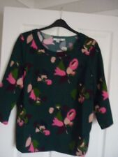 Boden Alda Top in Heathland Posy Green & Pink. UK 12 EUR 38-40 US 8 W0001