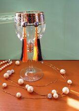 Handcraft Tassel Pierced Earring 2 Colors with Shiny Pearl Hook Type JAPAN