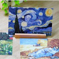 30pcs/Set Vintage Poster Van Gogh Famous Painting Postcard Wall Decoration Cards