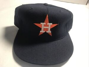 """Houston Astros New Era Fitted Baseball Cap Hat Size 7 5/8""""  New Unused"""
