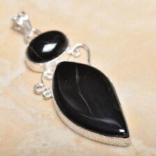 "Handmade Botswana Agate Onyx Jasper 925 Sterling Silver Pendant 2.75"" #P14235"