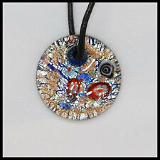 Fashion Women's round lampwork Murano art glass beaded pendant necklace #A41