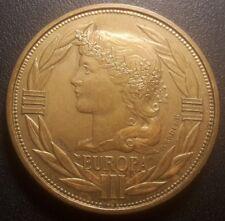 Europe - Europa écu 1992 - médaille essai monnaie euopéenne !