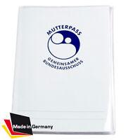 Mutterpasshülle Schutzhülle transparent 3teilig NEU Etui Umschlag durchsichtig