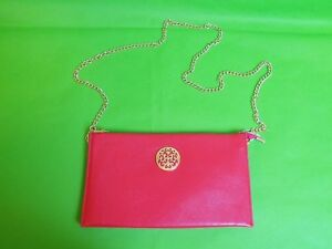 Womens Red Plum Bag with Chain