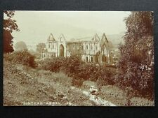 More details for monmouthshire tintern abbey showing pony & trap - old rp postcard by e.g.ballard