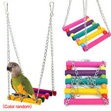 Pet Bird Parrot Parakeet Budgie Cockatiel Cage Small Hanging Hammock Swing Toys