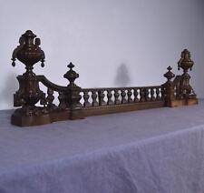 *Antique French Louis XVI Bronze Chenet Andirons Fireplace Set