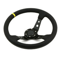 Universal 350mm Deep Dished Steering Wheel Leather fits SPARCO OMP BOSS HUB