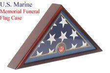 Usmc Marine Corp Flag Display Case Box, 5x9.5 - Funeral Burial Flag Case