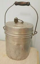 Vintage Miner's Lunch Box, Bucket, Pail, Priscilla Ware 6 Qt. Two Tier