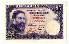 Billete de España 25 pesetas 1954 Isaac Albeniz D 6604898