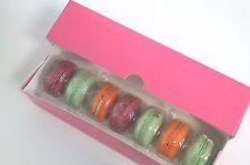 Brillant Rose Macaron/ECLAIR Box Détient 7 Macaron (Pack de 20)