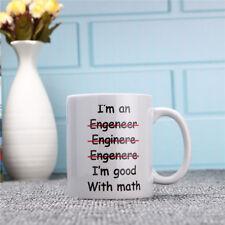 Engineer I am good with math Cerámico Printed 11 oz Té Cup Café TAZA DESAYUNO