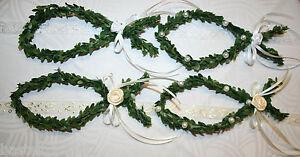 5 x Buchsbaum Fisch Kommunion Konfirmation Taufe Tischdeko Streudeko weiß/creme