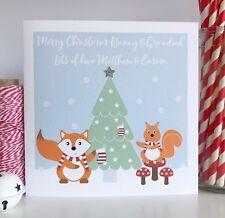 Personalised Christmas Card Grandparents Nanny Grandad Mum Dad Granchildren