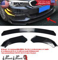 "6/"" Black Bumper Canard Splitter Fin Wing Spoiler Diffuser Set for Chevy Four"