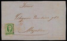 aa30 Mexico Cover Front #3b Plt 2 Gda / Tepic > Mazatlan ca 1857 Est $40-60