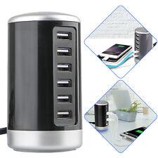 Tower Desktop USB Hub Charger 6 Port Charging Station Smart Identification US