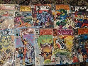 Avengers comic Avengers 260 261 263-266 281-367 Ann 19-22 VF+ Bagged