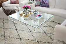 """Lucite Coffee Table Frame (NO TOP) in 3/4"""" thick clear-Custom Sizing Available"""