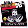 KN-303C K&N CHROME OIL FILTER fits KAWASAKI VN900 VULCAN CLASSIC 903 2006-2013