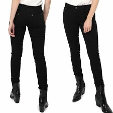 Women's Black Skinny Jeans stretch cotton Trousers Sizes UK 6-14