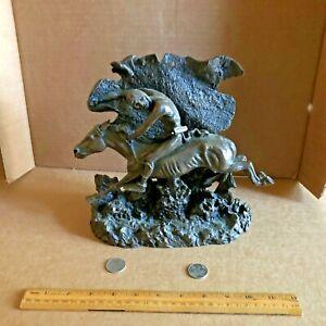 HORSE THIEF Sculpture After Frederic Remington Ltd Ed NE Indian