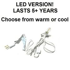 WARM LED C7 butterfly clip socket with switch,Darice 6402,6 foot,White 2700K