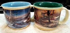 New Listing2 Terry Redlin Wildlife Art wide Coffee Mugs Cups - 2002