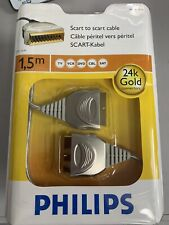 Philips Ultra High Quality 24k  Gold Plated Scart Cable 1.5m Length