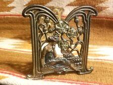 Fine Antique Art Nouveau Judd Expandable Book Rack Lady Seated w Lily Pads #9802