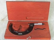 """Starrett No. 216  3"""" to 4"""" digital micrometer with Wooden Case"""
