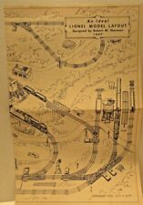 An Ideal Lionel Model Layout Designed by Robert M Sherman 1947 Guide
