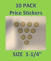 10 pack 25 cent Vending Price Stickers vendstar candy gumball Label