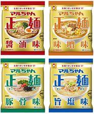 Maruchan Ramen Noodles SEIMEN Instant Food Miso Soy Sauce Pork 4 Bags Set Japan