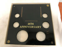CAPITAL PLASTICS 25TH ANNIVERSARY COIN HOLDER FOR 1C 5C 10C 25C 50C 1$ IN BOX