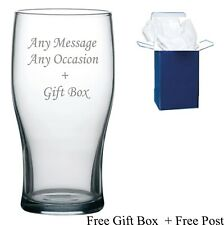 Personalised Engraved Pint Lager Beer Glass Granddad, Dad Daddy Free Gift Boxed