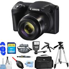 Canon PowerShot SX420 IS 20MP Digital Camera (Black) 1068C001 32GB Flash Bundle