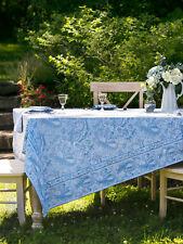 April Cornell Tablecloth Priscilla's Paisley Collection 36x36 NWT Lt Blue