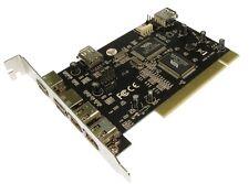 PCI FIREWIRE USB 6 Port Combo Card 3x USB 2 EXT 1 X INT 3x IEEE 2 EXT 1 X INT