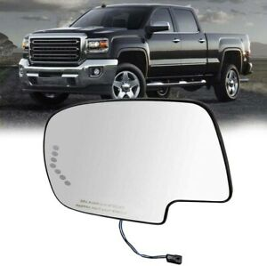 For 2003-2007 GMC Chevy Cadillac Turn Signal Heated Driver Side LH Mirror Glass